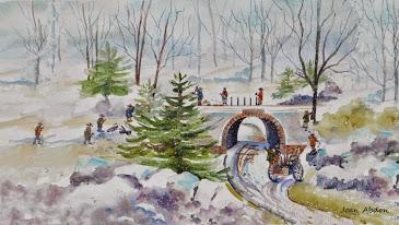 """Workers in Central Park, Winter 1859"" by Cindy Crofoot"