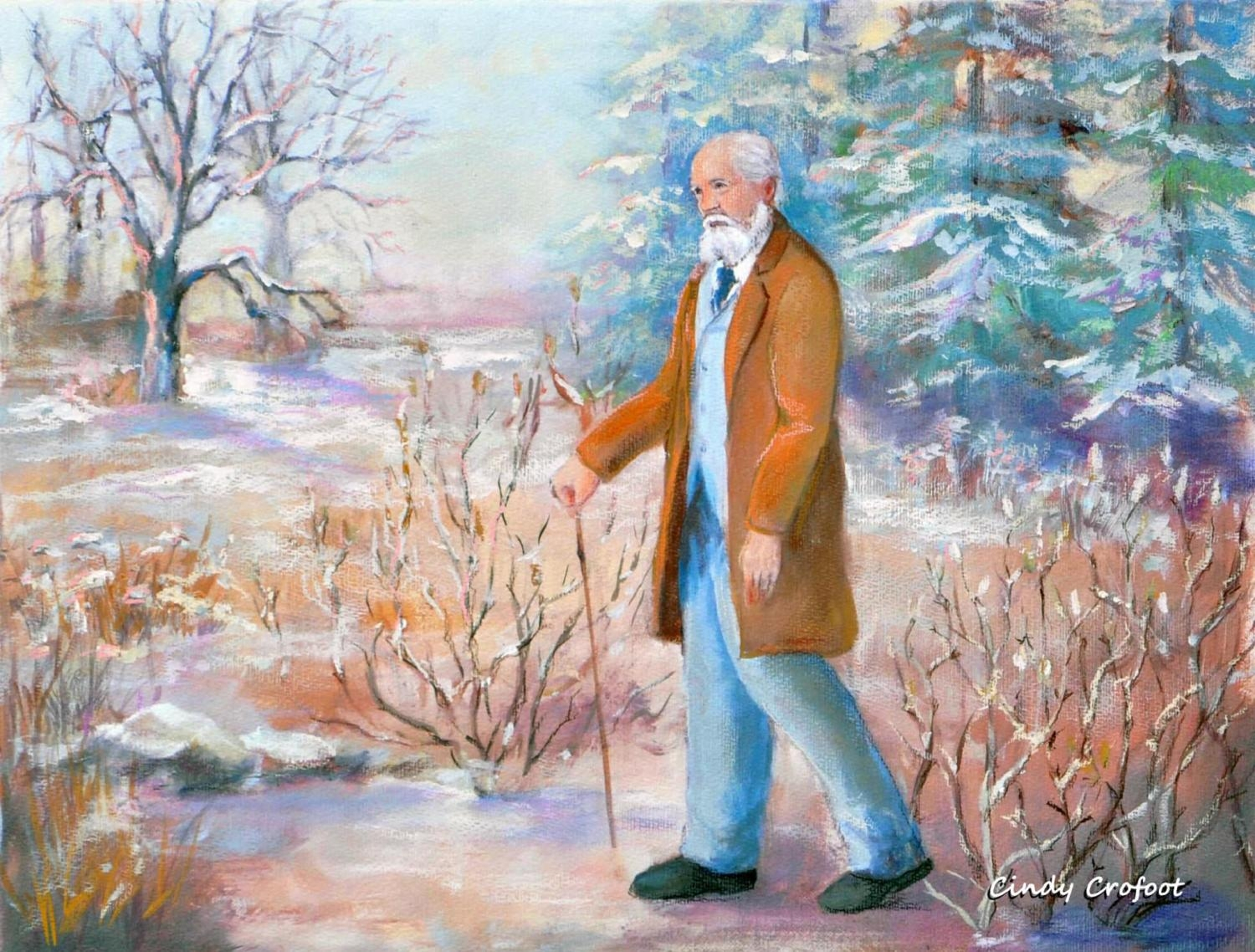 """Frederick Law Olmsted in Winter 1894"" by Cindy Crofoot"