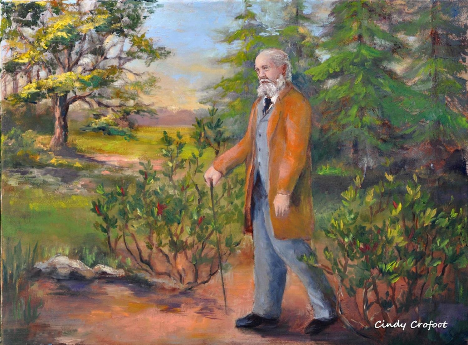 """Frederick Law Olmsted in Summer 1894"" by Cindy Crofoot"