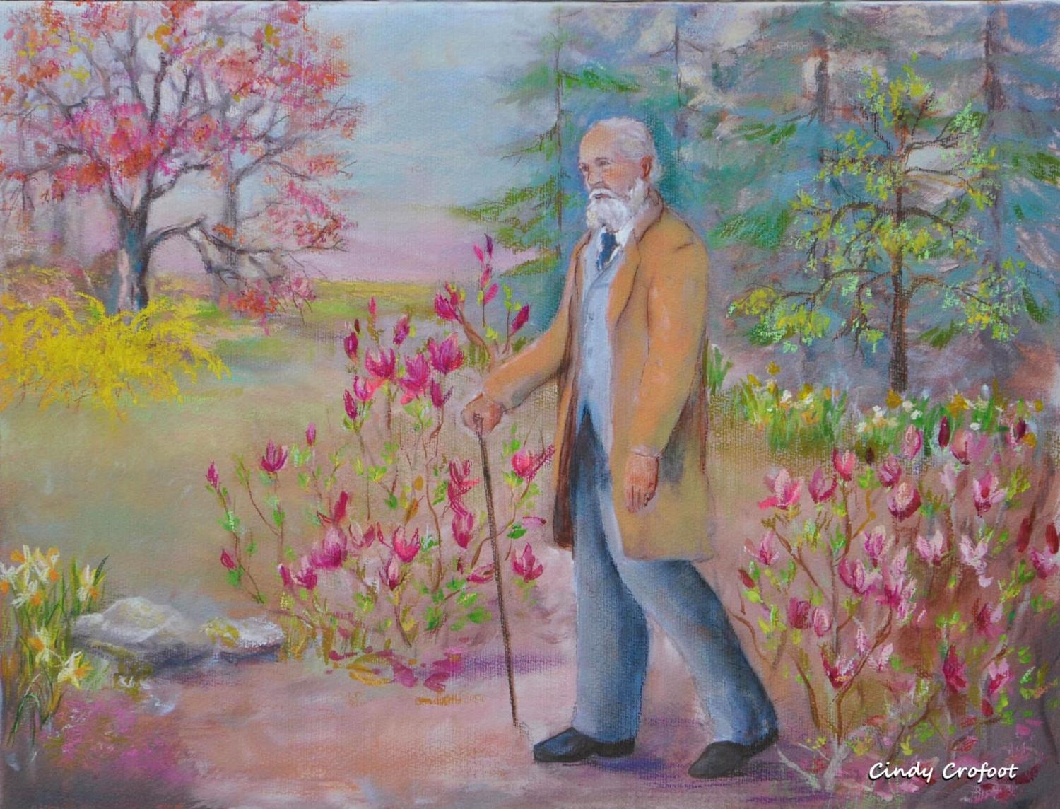 """Frederick Law Olmsted in Spring 1894"" by Cindy Crofoot"
