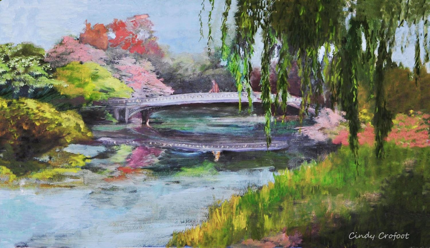 """Central Park's Bow Bridge in Spring, 1894"" by Cindy Crofoot"
