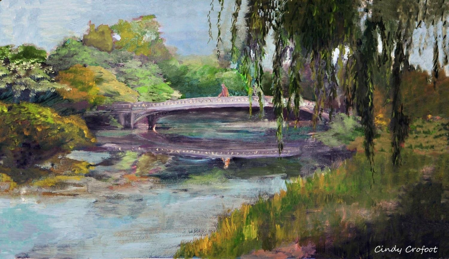 """Central Park's Bow Bridge in Summer, 1894"" by Cindy Crofoot"