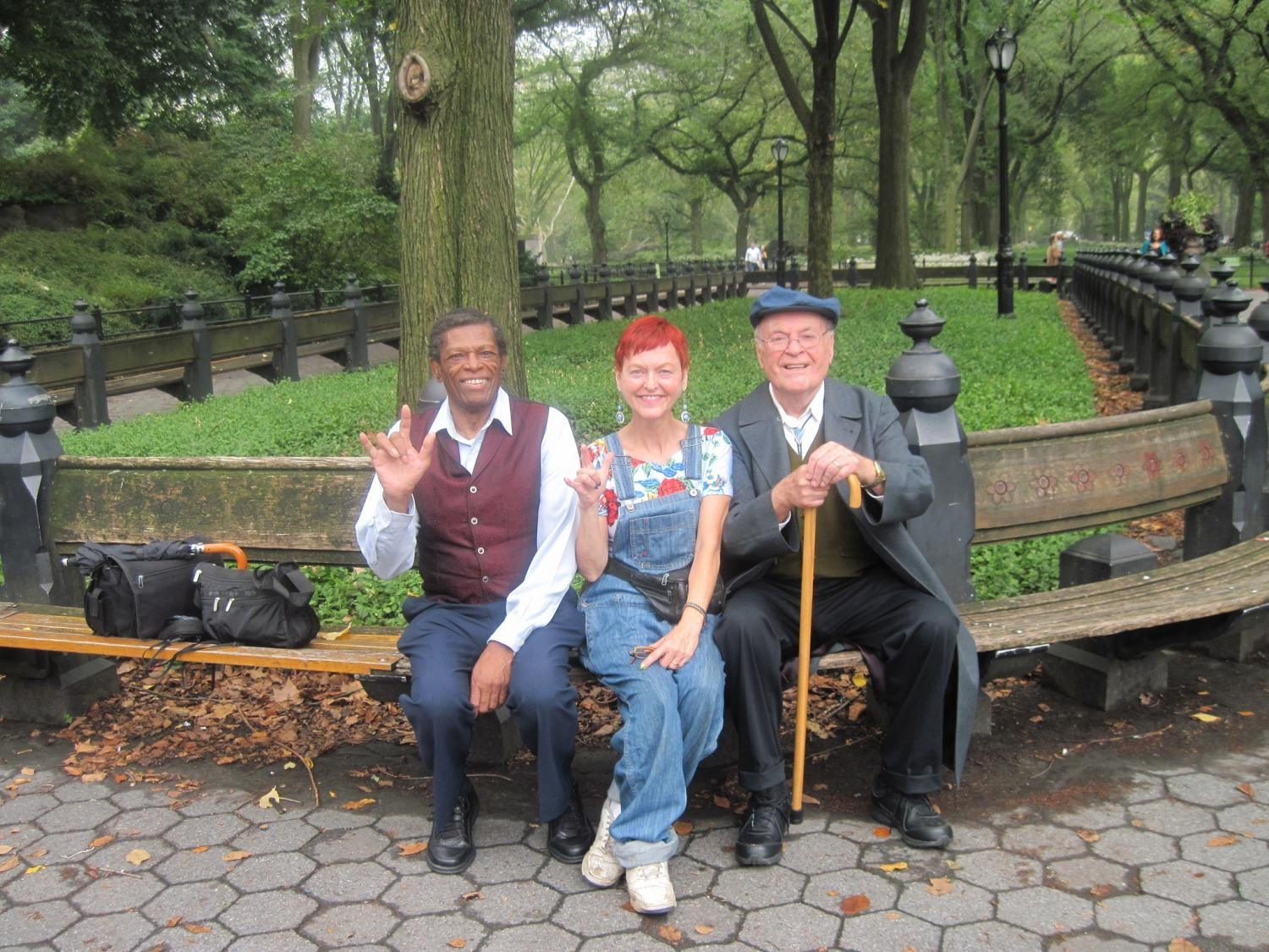 Performance in Central Park: Gerald Small (ASL), Leslie Fanelli, William Dembaugh